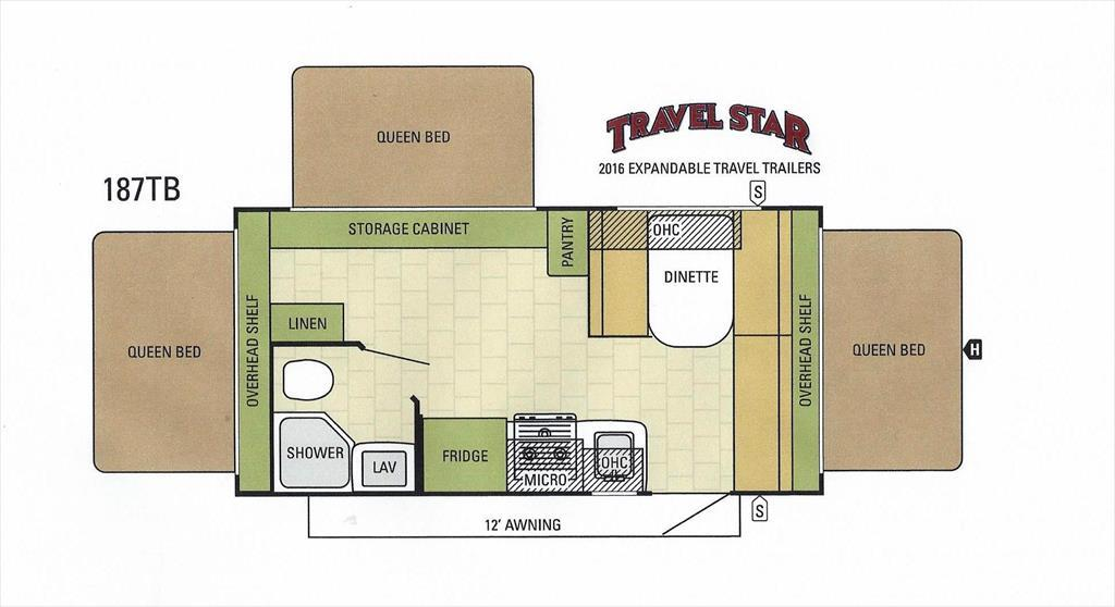 2016 Starcraft TRAVEL STAR EXP 207RB RVs